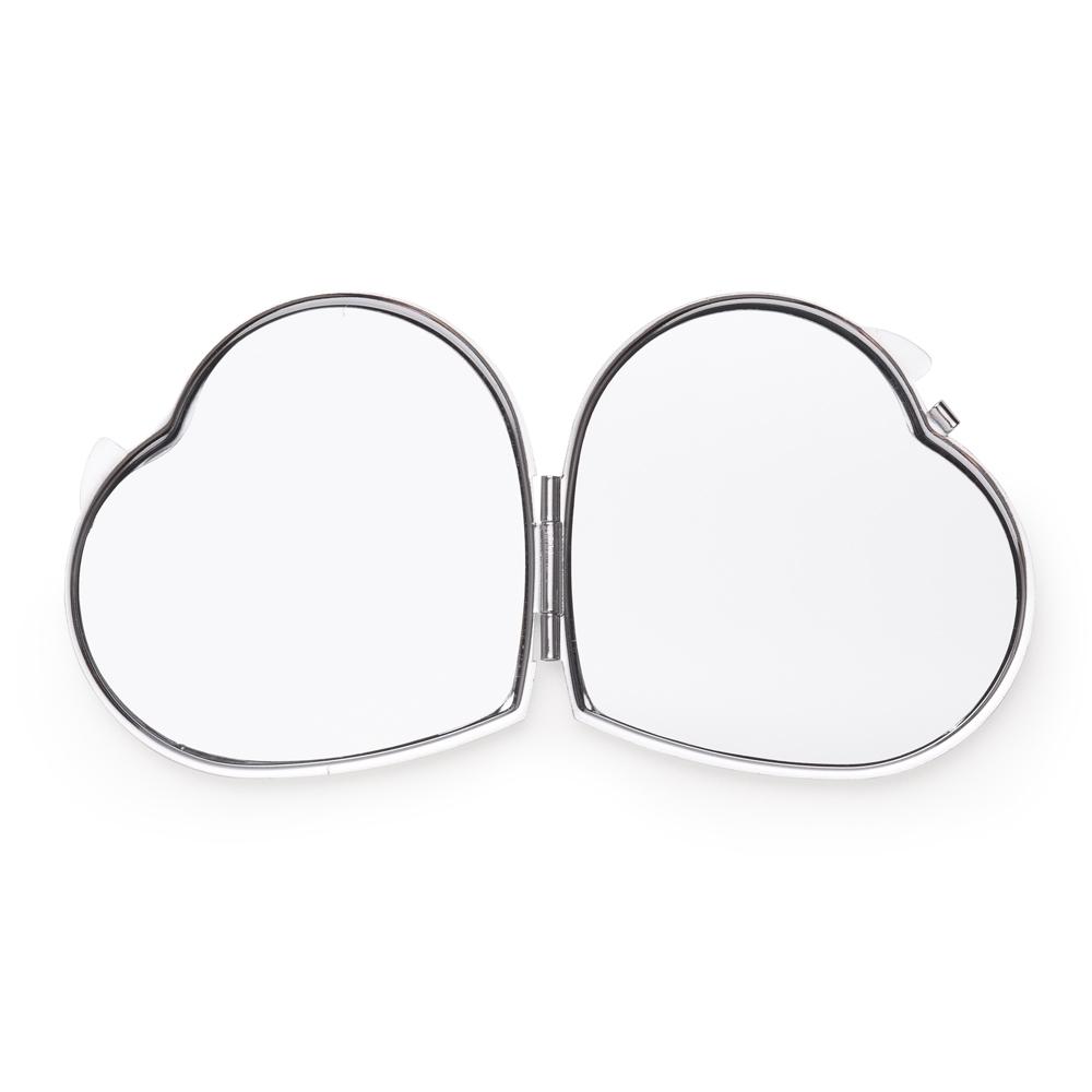 Espelho Metal Duplo Coração com Aumento 13516 - Gráfica e Brindes Ipê - Patos de Minas - MG