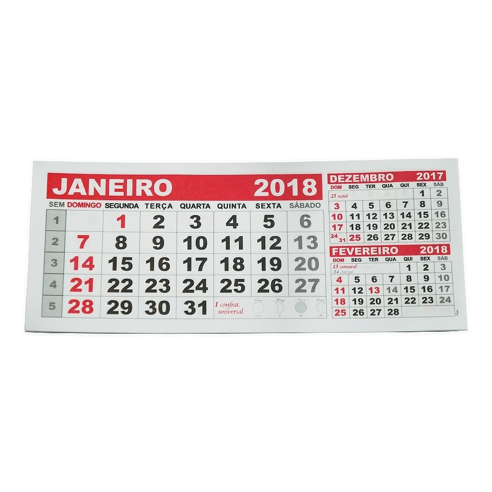 Folhinha Calendário 2018 12658 - Gráfica e Brindes Ipê - Patos de Minas - MG
