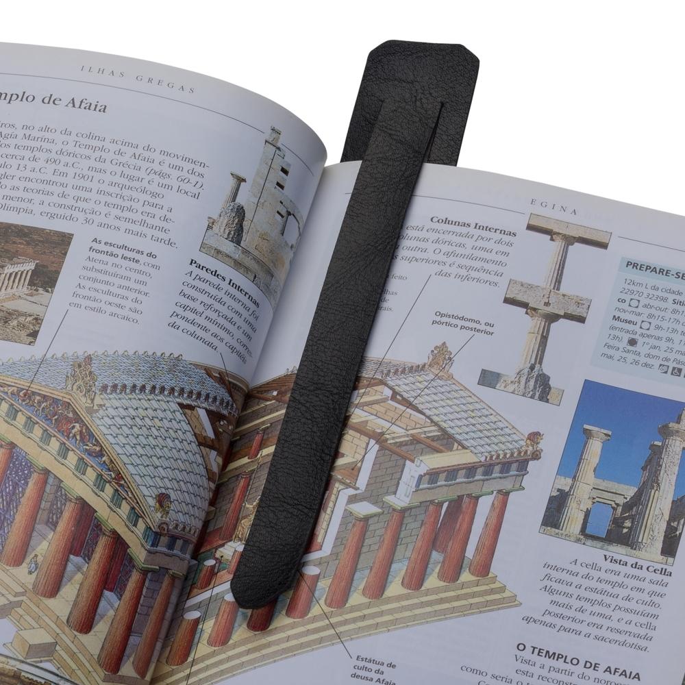 Marcador de Página Couro Sintético 13638 - Gráfica e Brindes Ipê - Patos de Minas - MG