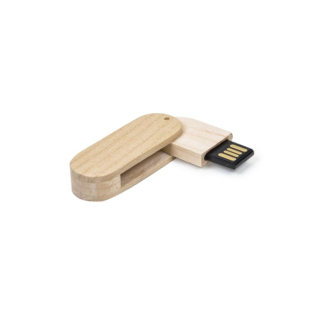 Pen Drive 4GB Bambu Giratório 033-4GB - Gráfica e Brindes Ipê - Patos de Minas - MG