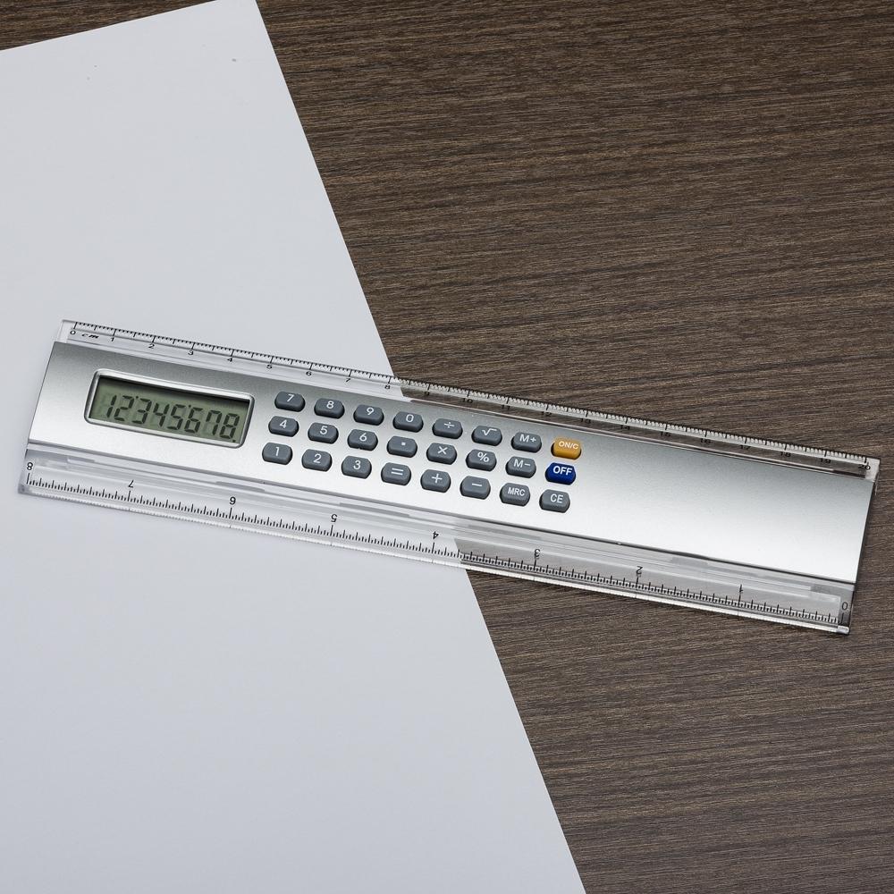 Régua 20cm com Calculadora 146 - Gráfica e Brindes Ipê - Patos de Minas - MG